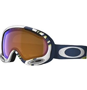 Oakley A-Frame 2.0 Snow Goggles - lime/blue with Smoke Rings/Black Iridium and Persimmon