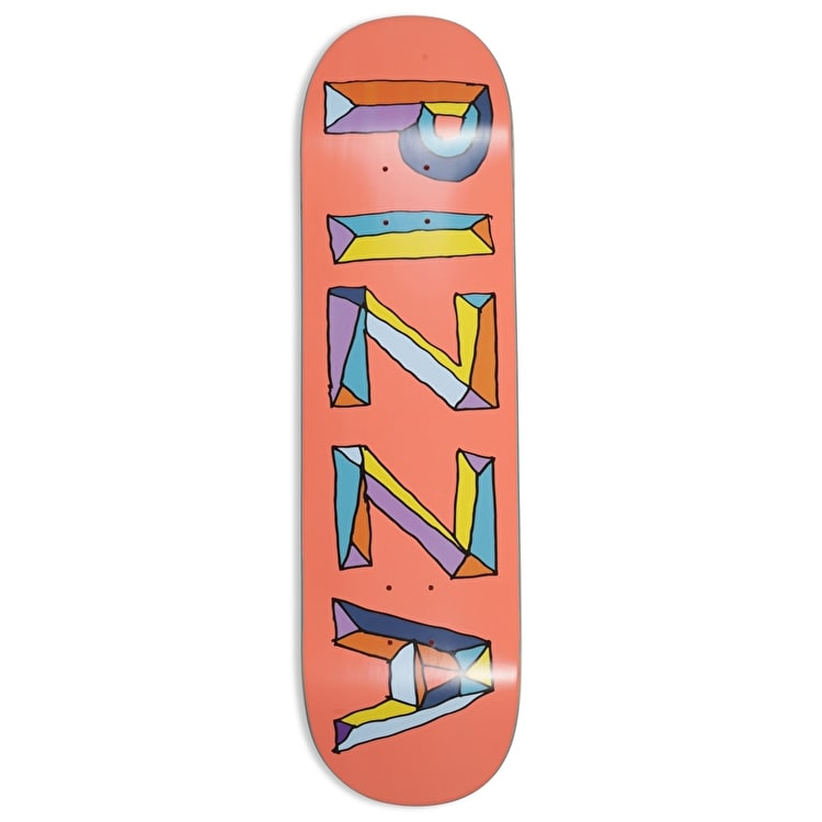 """Pizza Skateboards Stained Glass Skateboard Deck - Pink - 8.5"""""""