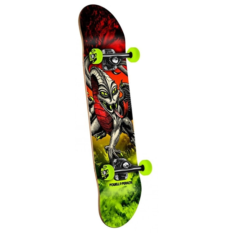 Powell Peralta Skateboard - Storm Cab Dragon Red/Green 7.75""