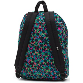 Vans Realm Backpack - (Floral Mix) Black/Turquoise