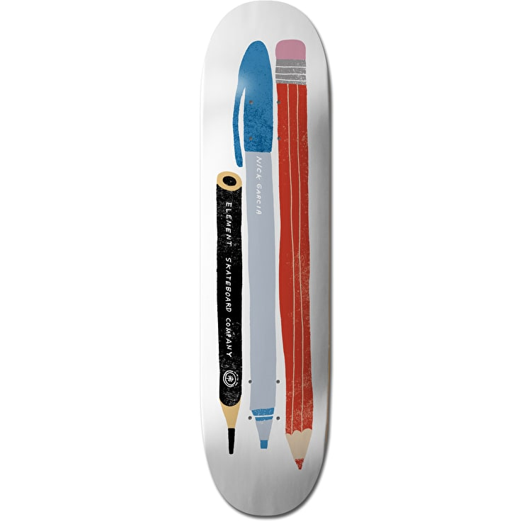 Element x Nathaniel Russell Garcia Pencils Skateboard Deck - 8.125""