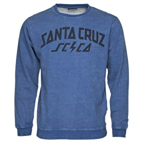 Santa Cruz HQ Crewneck - Indigo Wash