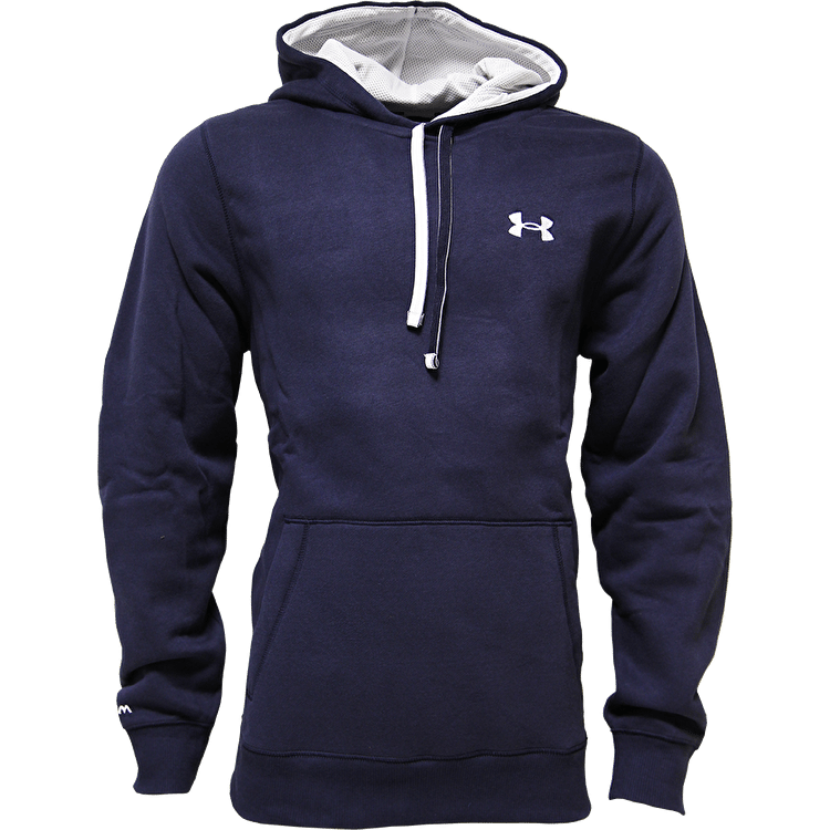 Under Armour CC Storm Rival Hoodie-Midnight Navy/White/White