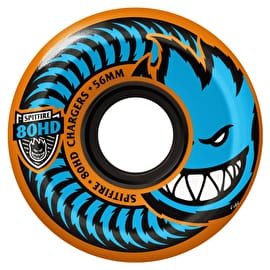 Spitfire Charger Conical 80HD Skateboard Wheels - Orange 56mm (Pack of 4)