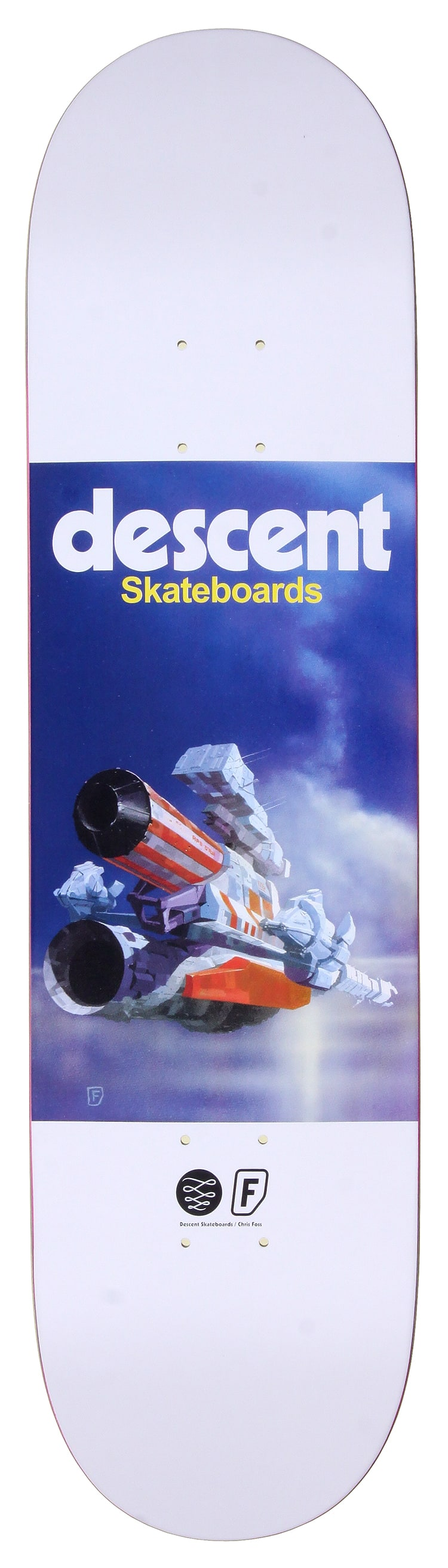 Image of Descent X Chris Foss Skateboard Deck - 8.1""