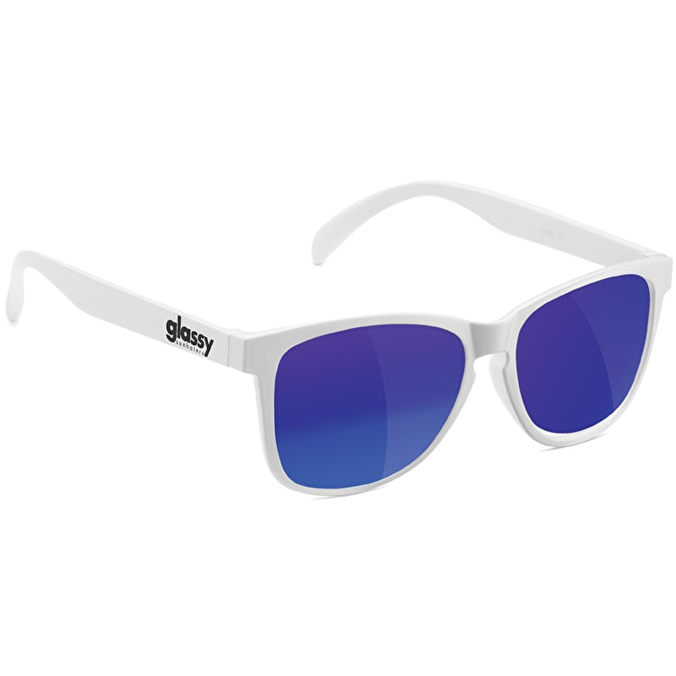Glassy Sunhaters Deric - White/Blue Mirror