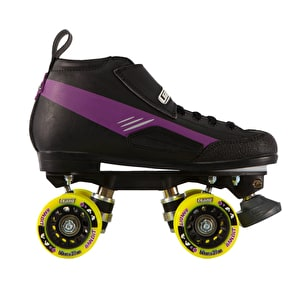 Crazy Skates DBXJ Adjustable Junior Derby Roller Skates - Purple