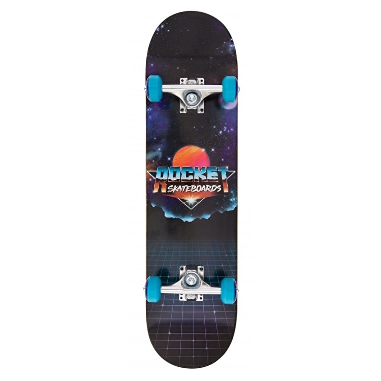 Rocket Logo Series Future Complete Skateboard - Black 7.75""