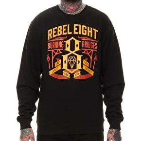 Rebel8 Burning Bridges Crewneck - Black