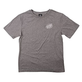 Santa Cruz Tye Dye Hand Womens T-Shirt - Grey Heather