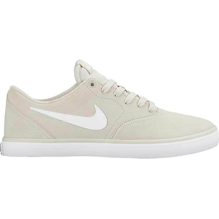 Nike SB Check Solar Skate Shoes - Light Bone/White