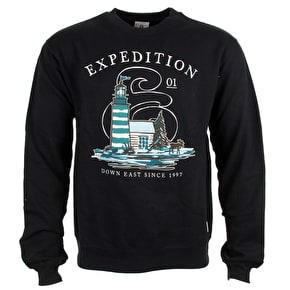 Expedition One Down East Crewneck - Black