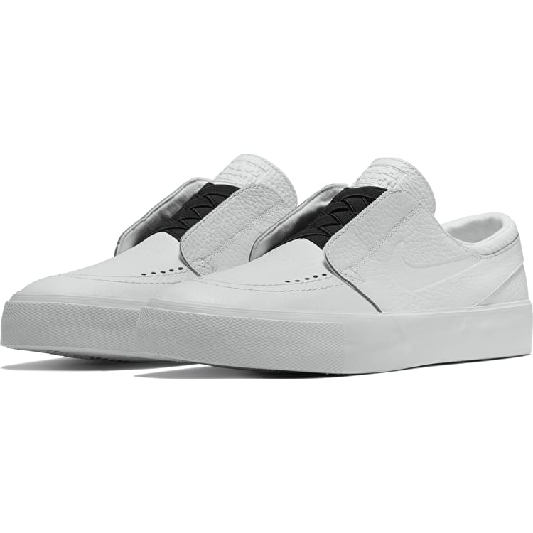 Nike SB Zoom Janoski HT Slip-On Skate Shoes - White/White/Black