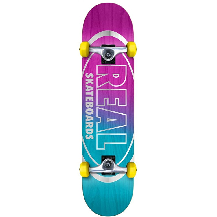 """Real Metallic Oval Fades Complete Skateboard - 7.5"""""""