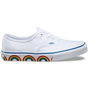 Vans Authentic Shoes - (Rainbow Tape) True White/Blue