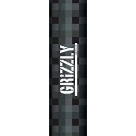 Grizzly Charcoal Plaid Stamp Skateboard Grip Tape - Charcoal