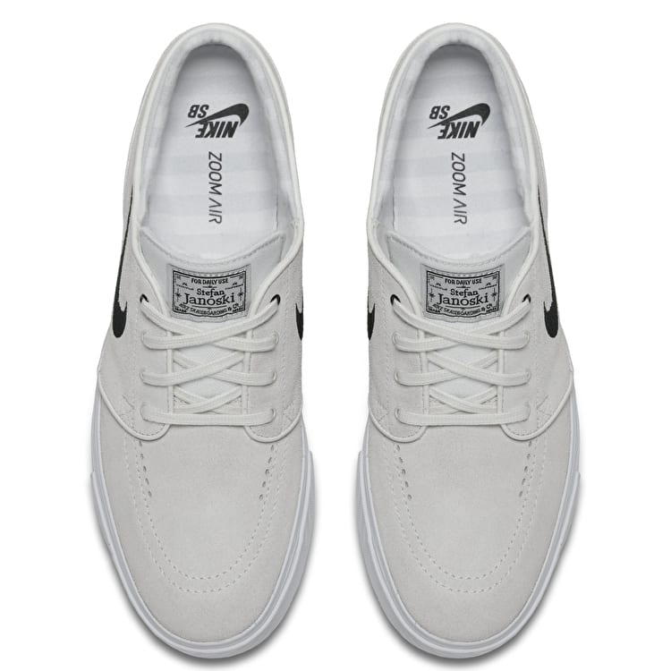 Nike SB Zoom Stefan Janoski Skate Shoes - Summit White/Black/Pure Platinum