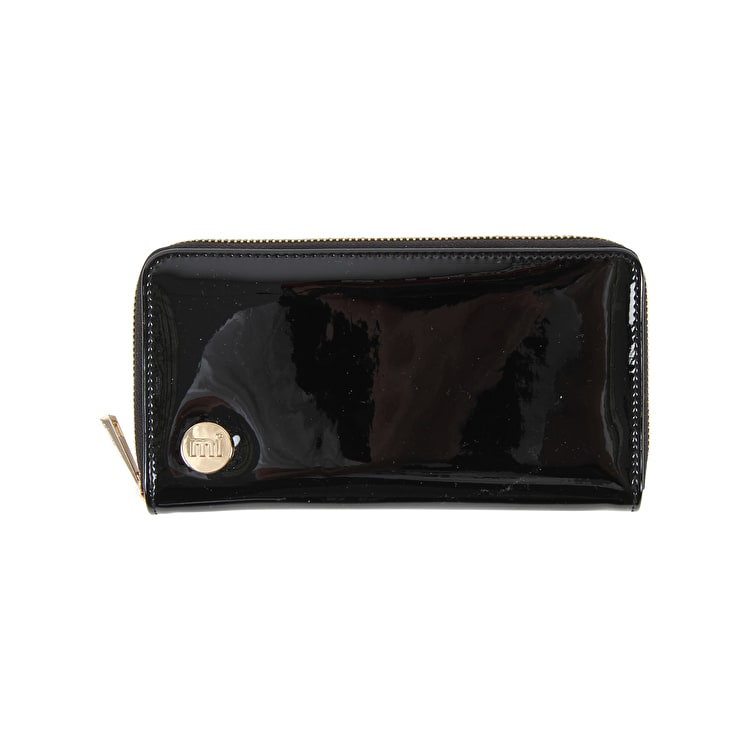 Mi-Pac Patent Zip Purse - Black