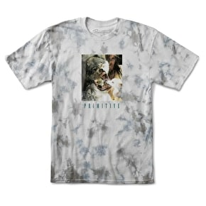 Primitive Wolves T-Shirt - Grey Tie Dye