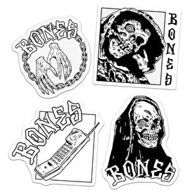 Bones Terror Nacht Skateboard Sticker - Clear 3
