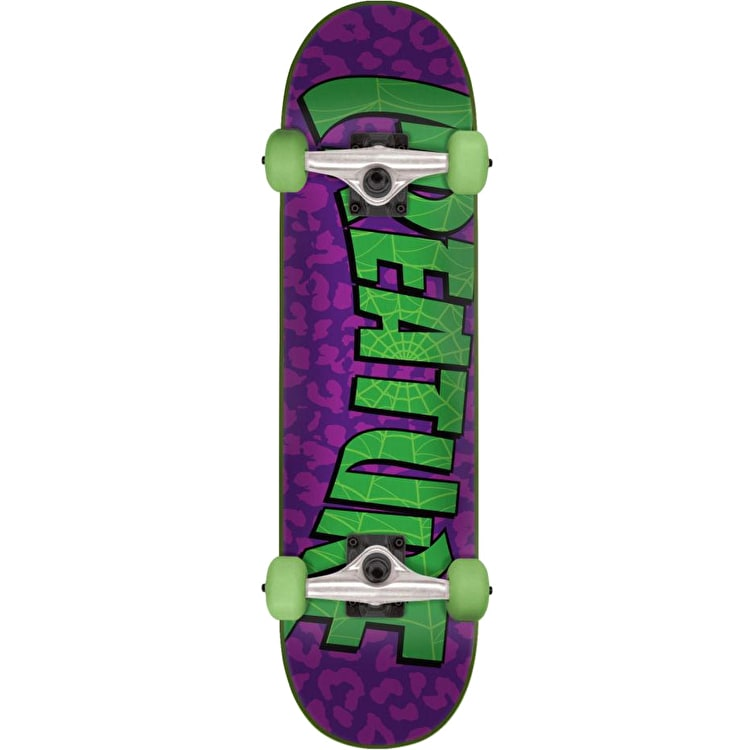 Creature Bible Mini Complete Skateboard - Purple/Green 7.5""