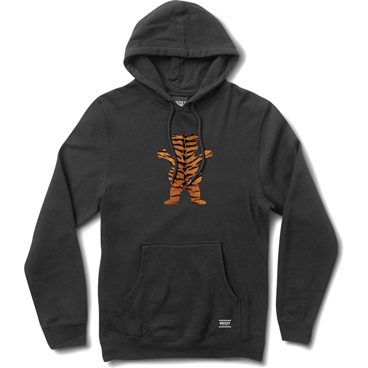 Grizzly Tiger Stripe OG Bear Hoodie - Black