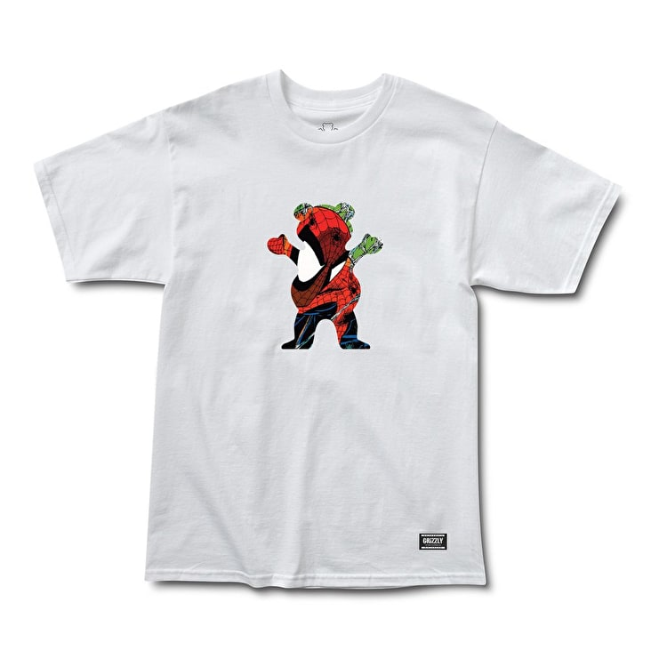 Grizzly x Spiderman T-Shirt - White