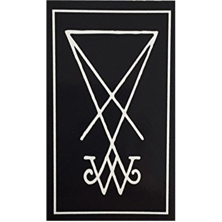 Welcome Symbol Skateboard Sticker - Black/White  5""