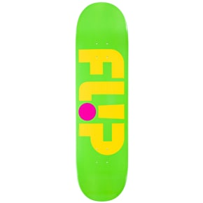 Flip Odyssey Logo Day Glo Skateboard Deck - Green 8.13