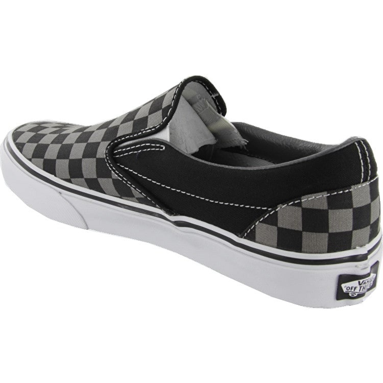Vans Classic Slip On Shoes - Black/Pewter Checkerboard