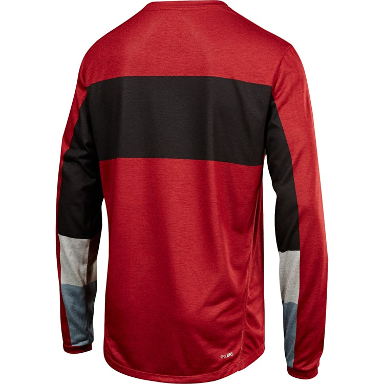 Fox Indicator Drafter Long Sleeve Jersey - Dark Red