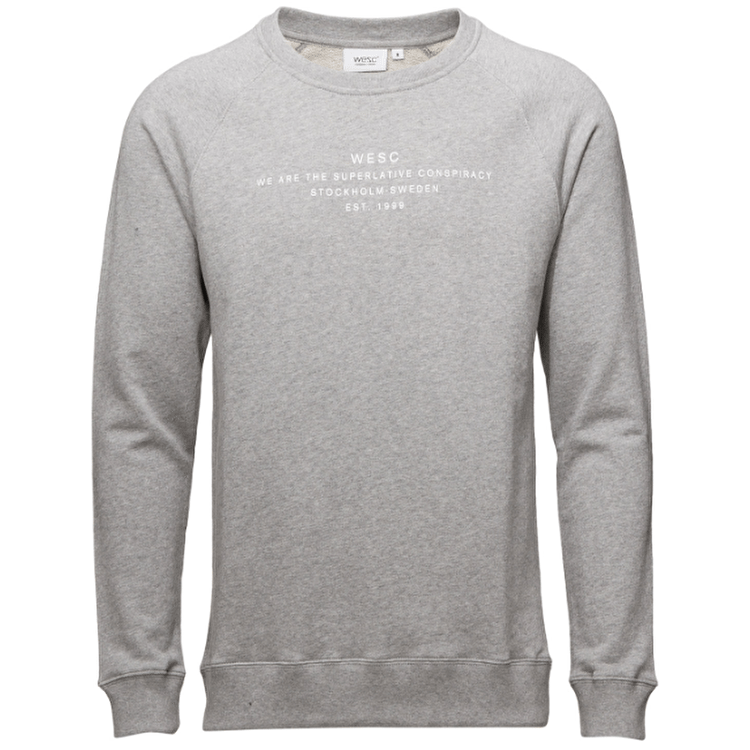 WeSC Patchy Crewneck - Grey Melange