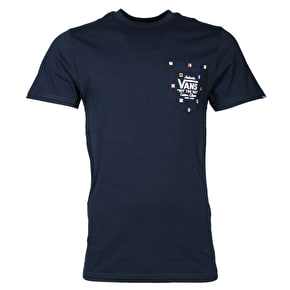 Vans Print Box Pocket T-Shirt - Navy Nautical Flags