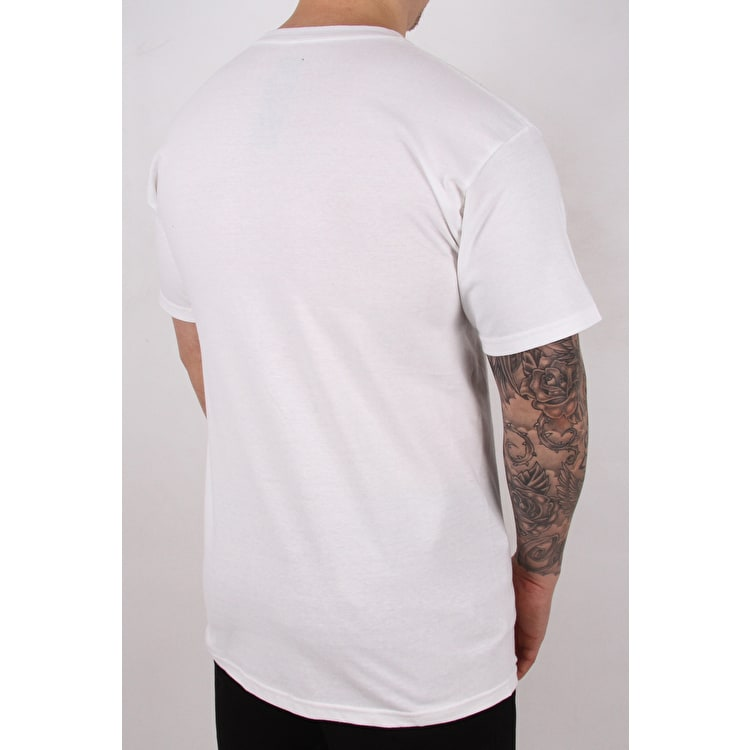 Huf Box Logo T shirt - White