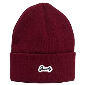 Grizzly Script Beanie - Burgundy