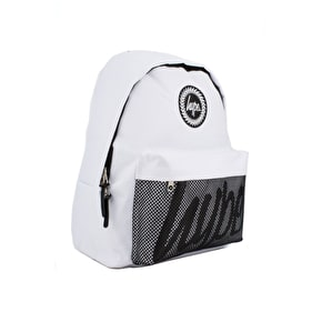 Hype Backpack - White/Black Perforated Pocket