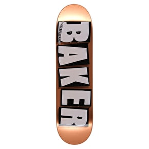 Baker Brand Name Copper Foil OG Skateboard Deck - 8.25