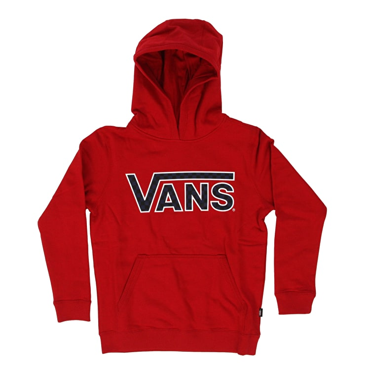 Vans Classic Kids Pullover Hoodie - Chili Pepper/Checkerboard