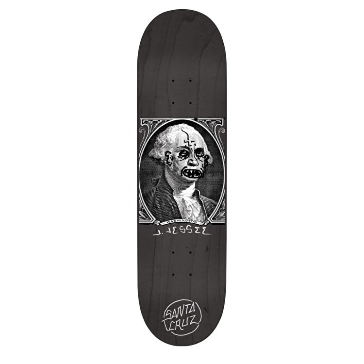 Santa Cruz Jessee Boner Dollar Skateboard Deck - Black/White 8.5""