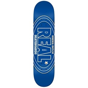 Real Renewal Oval PP Skateboard Deck - Blue 7.75