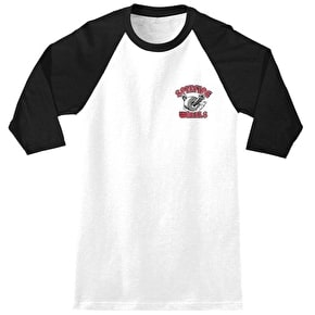Spitfire Clean Burner 3/4 Raglan T-Shirt - White/Black