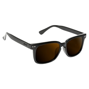 Glassy Sunhaters Lox Sunglasses (Davis Togerson Pro Model) - Black/Brown