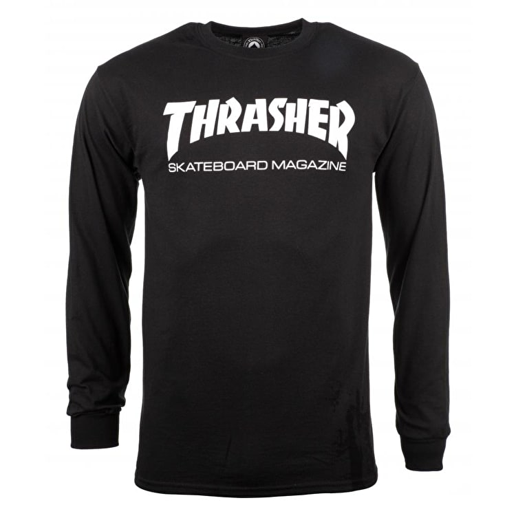 Thrasher Skate Mag Long Sleeve T Shirt - Black