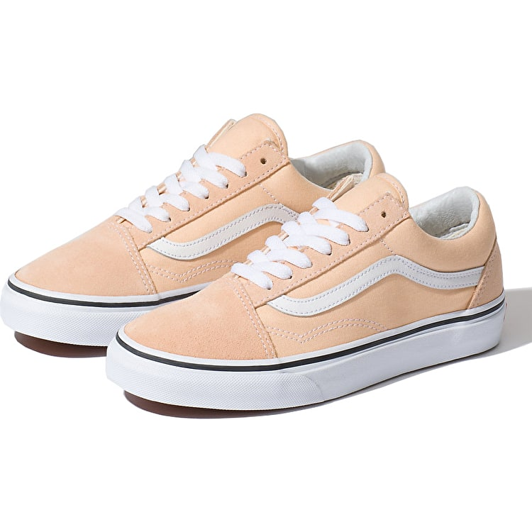 Vans Old Skool Skate Shoes - Bleached Apricot/True White