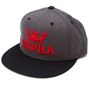 Supra Above Snapback Cap - Charcoal/Heather/Black