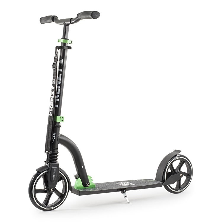 Frenzy FR205s Folding Suspension Scooter - Black/Green