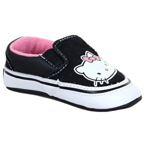 Vans Toddlers Slip-On Crib Shoes - (Hello Kitty) Pink/White