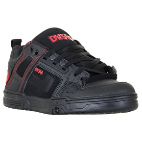 DVS Comanche Skate Shoes - Black/Red