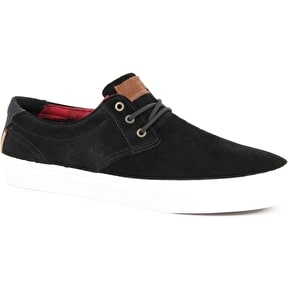 Lakai MJ Shoes - Black/Red Suede