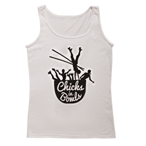 Chicks in Bowls- White Vest Top
